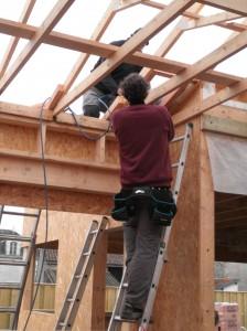 Toiture/Couverture dans L'ossature bois p41300992-224x300